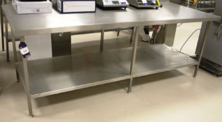 Stainless Steel Two Tier Bench 2400 x 1000
