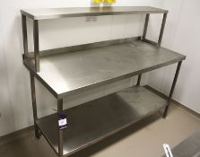 Stainless Steel Two Tier Bench with Gantry 1650 x