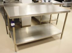 Stainless Steel Two Tier Bench 1500 x 800