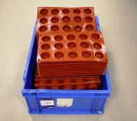 Red Macaron Moulds (Approx. 61 Total)