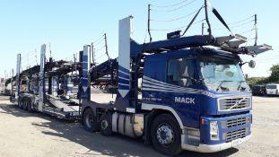 11 Car Transporter Rig comprising: Volvo FM 42 RB