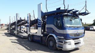 11 Car Transporter Rig comprising: Renault 460 DXI