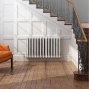 (ED12) 600x1042mm White Double Panel Horizontal Colosseum Traditional Radiator.RRP £530.99.Made from