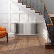 (ED5) 600x1226mm White Four Panel Horizontal Colosseum Traditional Radiator.RRP £507.99.Made from