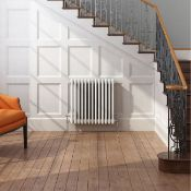 (ED18) 500x628mm White Double Panel Horizontal Colosseum Traditional Radiator.RRP £444.99.For