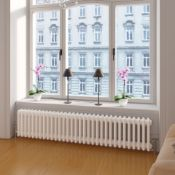 (ED2)  300x1502mm White Four Panel Horizontal Colosseum Traditional Radiator. RRP £505.99. Made from