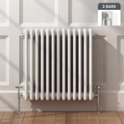(ED9) 600x628mm White Triple Panel Horizontal Colosseum Traditional Radiator.RRP £369.99.Made from
