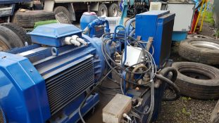 Small Blue Hydraulic Power Pack