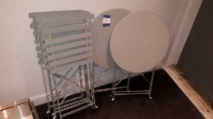 2 x steel folding round tables and 4 x steel foldi