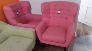 2 x Pina Buttoned Armchairs – Located York Buildin