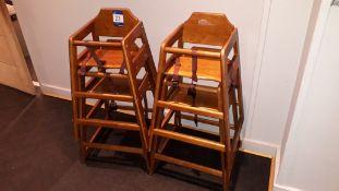 4 x Bolero Wooden highchairs – Located 75 High Str