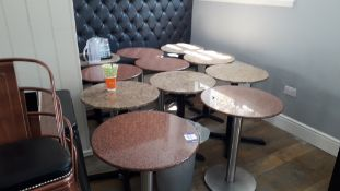 11 x 60cm Granite effect round tables and 19 x var