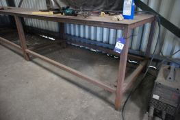 3 Steel Fabricated Workshop Benches 1 x 1000x1000m