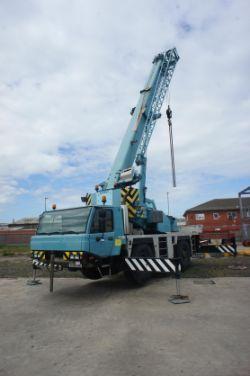 Two Tadano Faun ATF Mobile Rough Terrain Cranes, E172 Bobcats, Lifting Equipment and Ancillaries