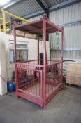 Heavy duty man cage crane attachment