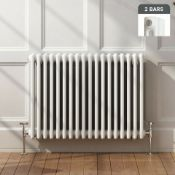 BRAND NEW BOXED 600x828mm White Double Panel Horizontal Colosseum Traditional Radiator.RC563.RRP £