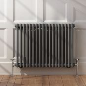 BRAND NEW BOXED 600x828mm Anthracite Double Panel Horizontal Colosseum Traditional Radiator. RRP £