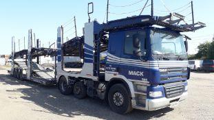 DAF CF 85.460 Euro 5 M4GN3 Sleeper Cab Transporter Rig, Registration EU14 PUH, first registered