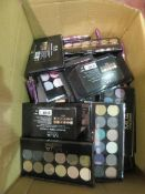 Circa. 200 items of various new make up acadamy make up to include: paintbox multishade lip palette,