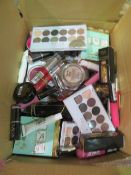 Circa. 200 items of various new make up acadamy make up to include: kiss you lip polish, eyeshadow