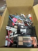 Circa. 200 items of various new make up acadamy make up to include: devolution eyeshadow palette,