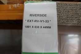 4 x Riverside EXT-RV-V1-33 external door, 1981mm x 838mm x 44mm - Lots to be handed out in order