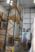 2 x Bays of Link 51E pallet racking, comprising 3 x 6m uprights, 14 x 2.4m cross beams, wooden