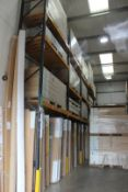 5 x Bays of Link 51E pallet racking, comprising 6 x 6m uprights, 36 x 2.4m cross beams, wooden