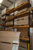 6 x Bays of Link 51E pallet racking, comprising 7 x 6m uprights, 40 x 2.4m cross beams, wooden