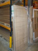 9x various Internal Fire Doors and Standard Doors to include Mexicano White Oak FD30 Pre-Finished,