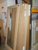 8x various Internal / External Fire Doors to include Mexicano White Oak FD30, Shaker 4 Panel