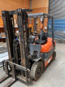 1996 Toyota 6FDF25 2500kg Diesdal Fork Lift Truck with Low Height Triplex Mask