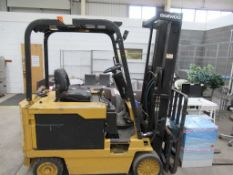 A 1995 Daewoo BC30S electric forklift