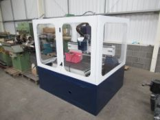 Unbranded Multi Axis CNC machine with 1100x1000 machine bed in enclosure. 3 phase and accessories