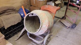 Belle Minimix 150 Petrol Cement Mixer S/N 890014M54B (2016) with Steel Sack Trolley
