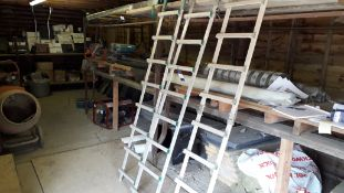 3 x Macc 2m Sections Aluminium Roof Ladders