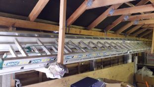 2 x Macc Twin Section 8m Aluminium Ladders