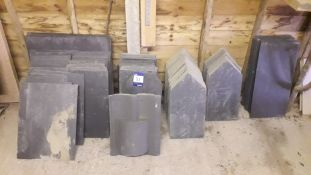 Quantity of 20 x 10 Natural Slate Tiles and 20 x 1