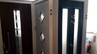 5 x Various Dressed Display Composite Doors and Frames and 1 x Stable Door