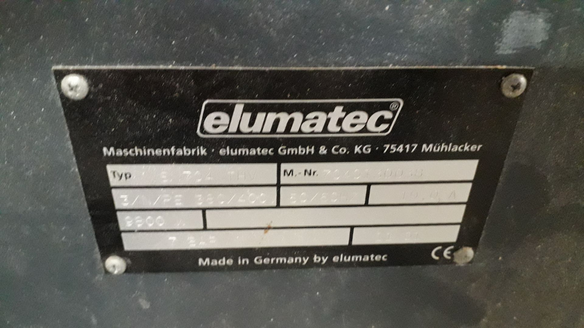 Lot 7 - Elumatec VS704THV 4 Headed Welder Serial Number 7040130058 (11/01) (Hard Wired – Disconnection