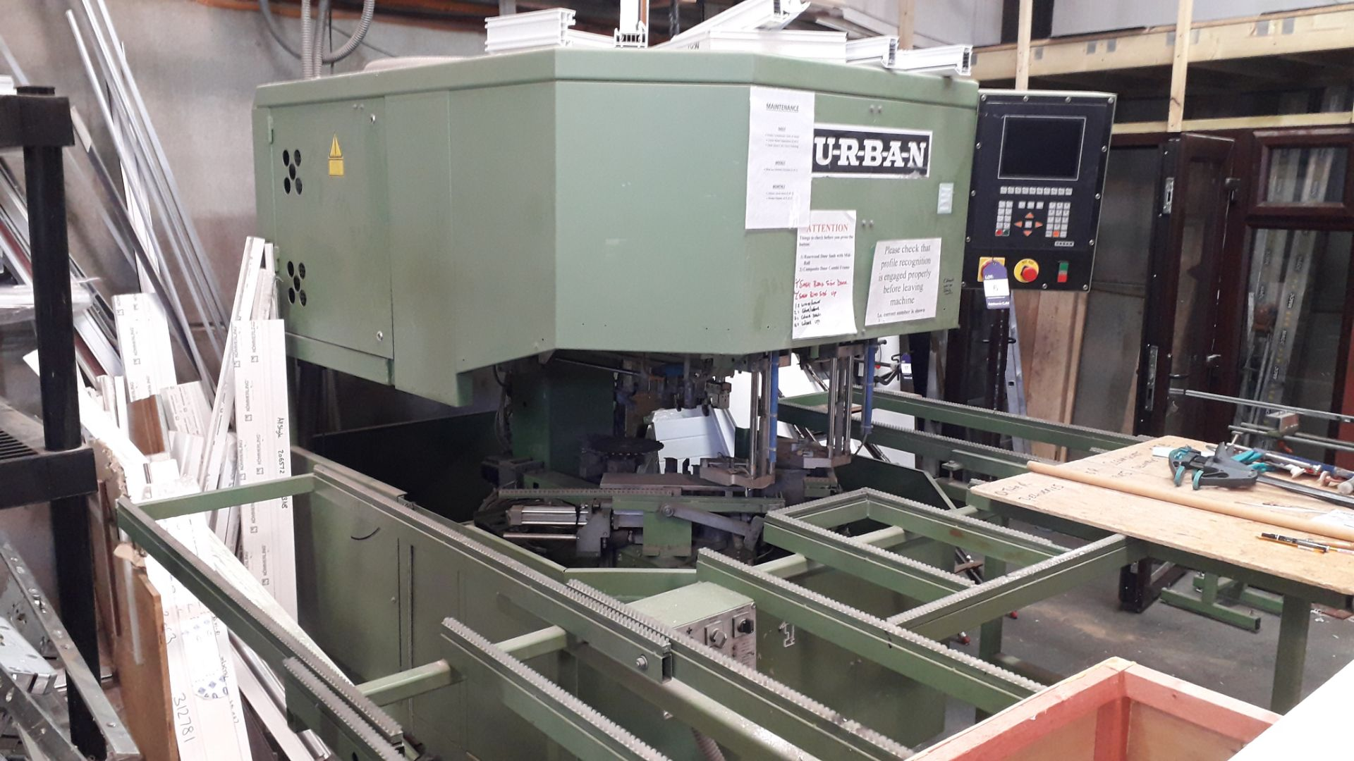 Lot 6 - URBAN CNC SV494 Window Frame Machine (Hard Wired – Disconnection required by a qualified