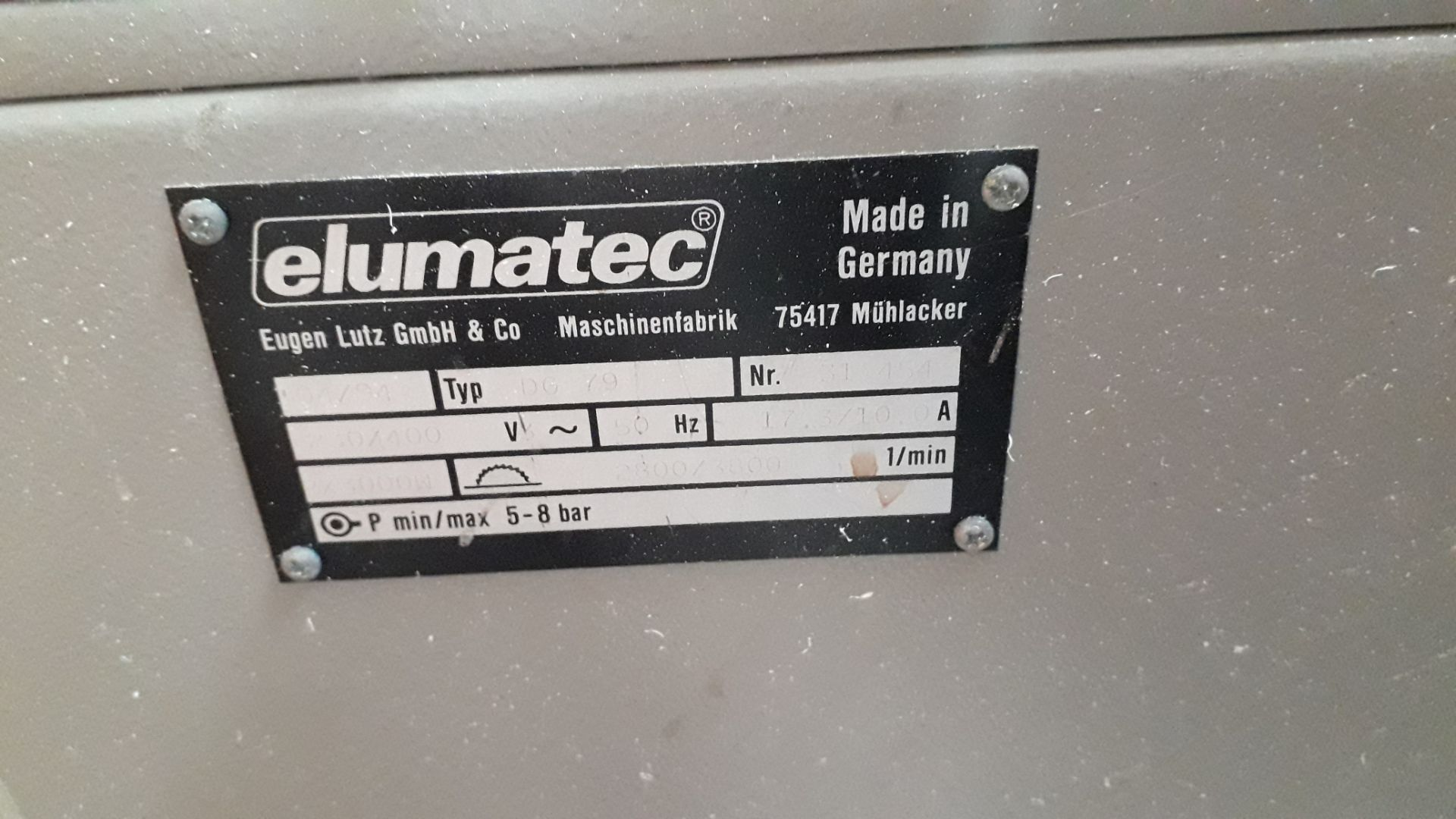 Lot 8 - Elumatec DG79 Double Headed Mitre Saw 314SA (Hard Wired – Disconnection required by a qualified