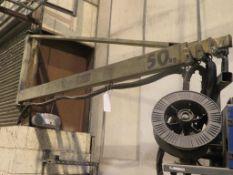 Voortman 50Kg telescopic swing jib approx 6.5m fully extended
