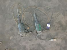"2 x Makita 9"" side grinders 110 volts. This lot is Buyer to Remove."