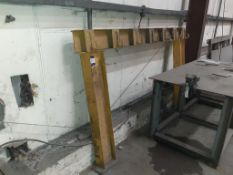 Floor mountable double side stock/pipe rack 2350 x 1500mm high. This lot is Buyer to Remove.