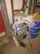 Trolley mounted air powered spray pump