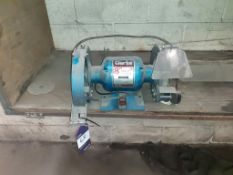 "Clarke metalworker 8"" bench grinder. This lot is Buyer to Remove."