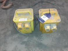 2 x 110 volt transformers. This lot is Buyer to Remove.