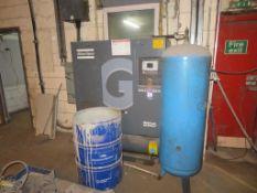 2010 Atlas Copco GA 11 VSD FF receiver mounted compressor