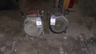2 x 2500w Fan Heaters 240v
